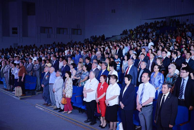 Alumni meeting in the Palace of students named after U.A.Dzholdasbekov